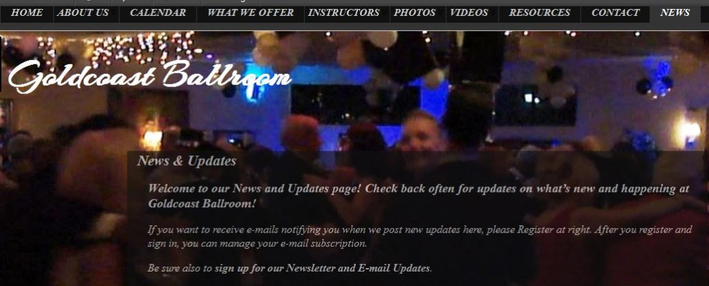 Goldcoast Ballroom News Page